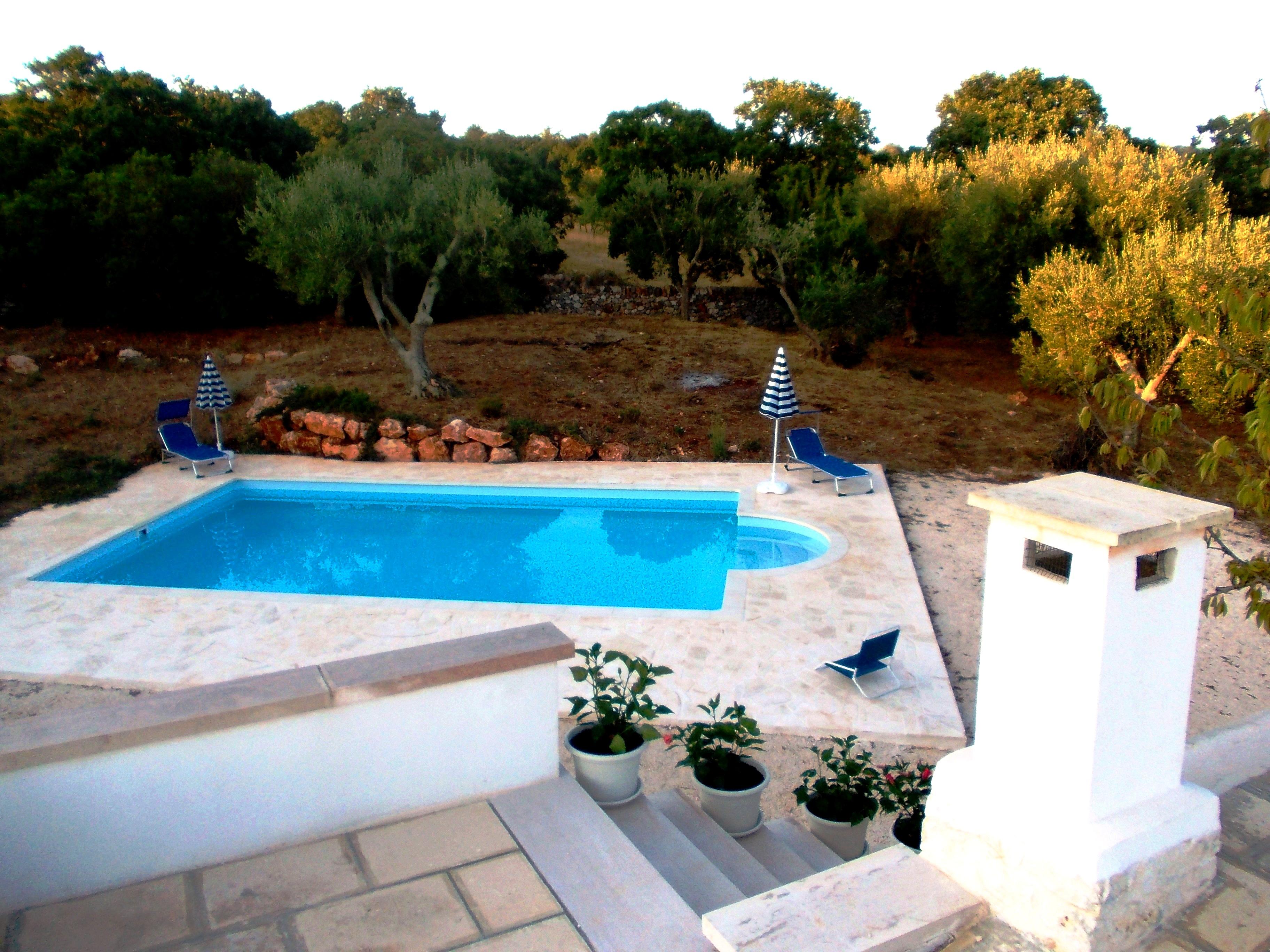la piscina dal tetto